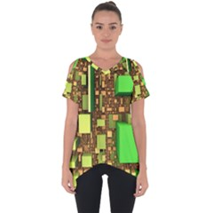 Blocks Cubes Construction Design Cut Out Side Drop Tee by Nexatart