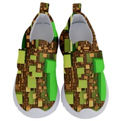 Blocks Cubes Construction Design Velcro Strap Shoes by Nexatart