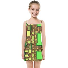 Blocks Cubes Construction Design Kids Summer Sun Dress