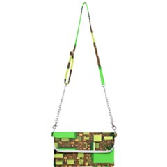 Blocks Cubes Construction Design Mini Crossbody Handbag