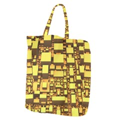 Cubes Grid Geometric 3d Square Giant Grocery Tote