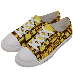 Cubes Grid Geometric 3d Square Women s Low Top Canvas Sneakers by Nexatart