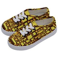 Cubes Grid Geometric 3d Square Kids  Classic Low Top Sneakers by Nexatart