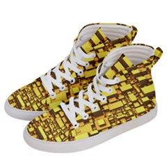 Cubes Grid Geometric 3d Square Men s Hi Top Skate Sneakers by Nexatart