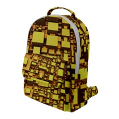 Cubes Grid Geometric 3d Square Flap Pocket Backpack (large)