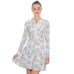 Dandelion Colors Nature Flower Long Sleeve Panel Dress