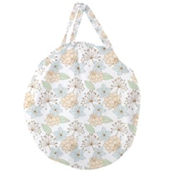 Dandelion Colors Nature Flower Giant Round Zipper Tote