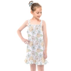 Dandelion Colors Nature Flower Kids  Overall Dress