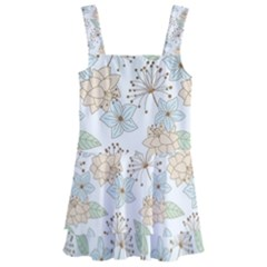 Dandelion Colors Nature Flower Kids  Layered Skirt Swimsuit