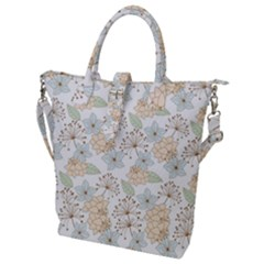 Dandelion Colors Nature Flower Buckle Top Tote Bag