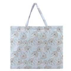Tooth Of Lion Dandelion Zipper Large Tote Bag by Nexatart