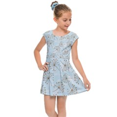 Tooth Of Lion Dandelion Kids Cap Sleeve Dress