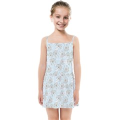 Tooth Of Lion Dandelion Kids Summer Sun Dress