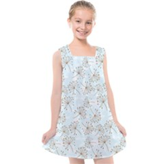 Tooth Of Lion Dandelion Kids  Cross Back Dress by Nexatart