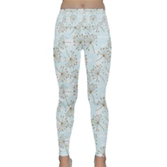 Tooth Of Lion Dandelion Lightweight Velour Classic Yoga Leggings