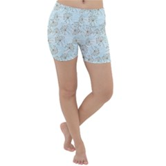 Tooth Of Lion Dandelion Lightweight Velour Yoga Shorts