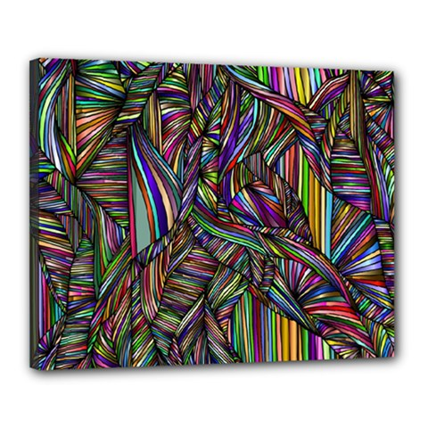 Background Wallpaper Abstract Lines Canvas 20  X 16  (stretched)