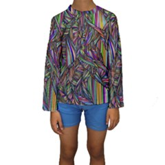 Background Wallpaper Abstract Lines Kids  Long Sleeve Swimwear by Nexatart