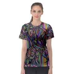 Background Wallpaper Abstract Lines Women s Sport Mesh Tee
