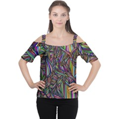 Background Wallpaper Abstract Lines Cutout Shoulder Tee