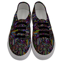 Background Wallpaper Abstract Lines Men s Classic Low Top Sneakers