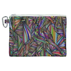 Background Wallpaper Abstract Lines Canvas Cosmetic Bag (xl)