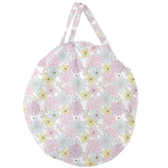 Dandelion Colors Flower Nature Giant Round Zipper Tote