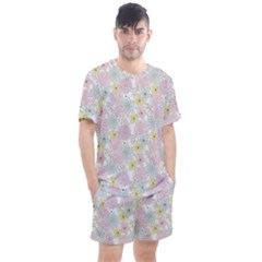 Dandelion Colors Flower Nature Men s Mesh Tee And Shorts Set