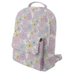 Dandelion Colors Flower Nature Flap Pocket Backpack (small)