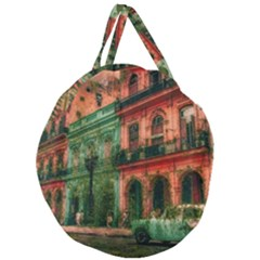 Havana Cuba Architecture Capital Giant Round Zipper Tote