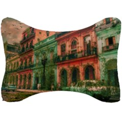 Havana Cuba Architecture Capital Seat Head Rest Cushion by Nexatart