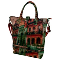 Havana Cuba Architecture Capital Buckle Top Tote Bag