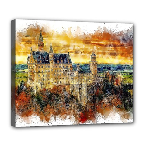Architecture Castle Fairy Castle Deluxe Canvas 24  X 20  (stretched) by Nexatart