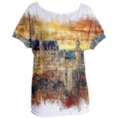 Architecture Castle Fairy Castle Women s Oversized Tee