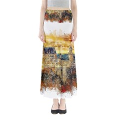 Architecture Castle Fairy Castle Full Length Maxi Skirt