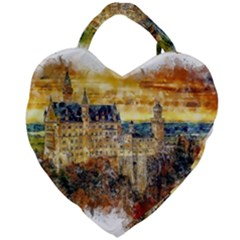 Architecture Castle Fairy Castle Giant Heart Shaped Tote