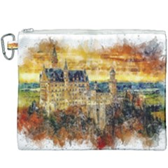 Architecture Castle Fairy Castle Canvas Cosmetic Bag (xxxl)