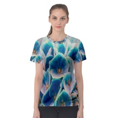 Hydrangeas Blossom Bloom Blue Women s Sport Mesh Tee by Nexatart
