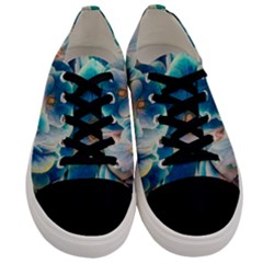 Hydrangeas Blossom Bloom Blue Men s Low Top Canvas Sneakers