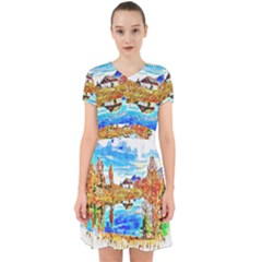 Lake Chalet Mountain Art Adorable In Chiffon Dress