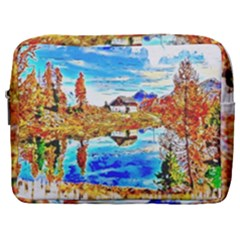 Lake Chalet Mountain Art Make Up Pouch (large)