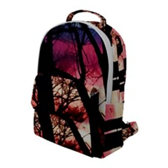 Fall Sunset Through The Trees Flap Pocket Backpack (large) by bloomingvinedesign