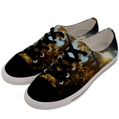 Fall Yellow Swirly Sunlight Men s Low Top Canvas Sneakers by bloomingvinedesign