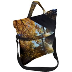 Fall Yellow Swirly Sunlight Fold Over Handle Tote Bag