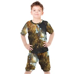 Fall Yellow Swirly Sunlight Kid s Set