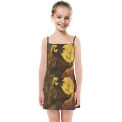 Witch On Moon Kids Summer Sun Dress