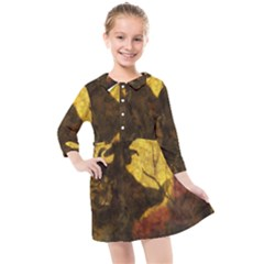 Witch On Moon Kids  Quarter Sleeve Shirt Dress