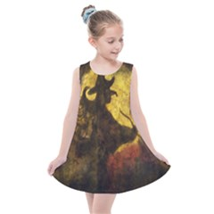 Witch On Moon Kids  Summer Dress