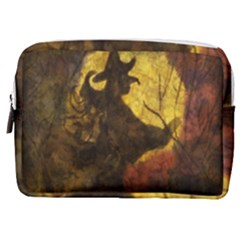 Witch On Moon Make Up Pouch (medium) by bloomingvinedesign