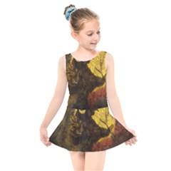 Witch On Moon Kids  Skater Dress Swimsuit